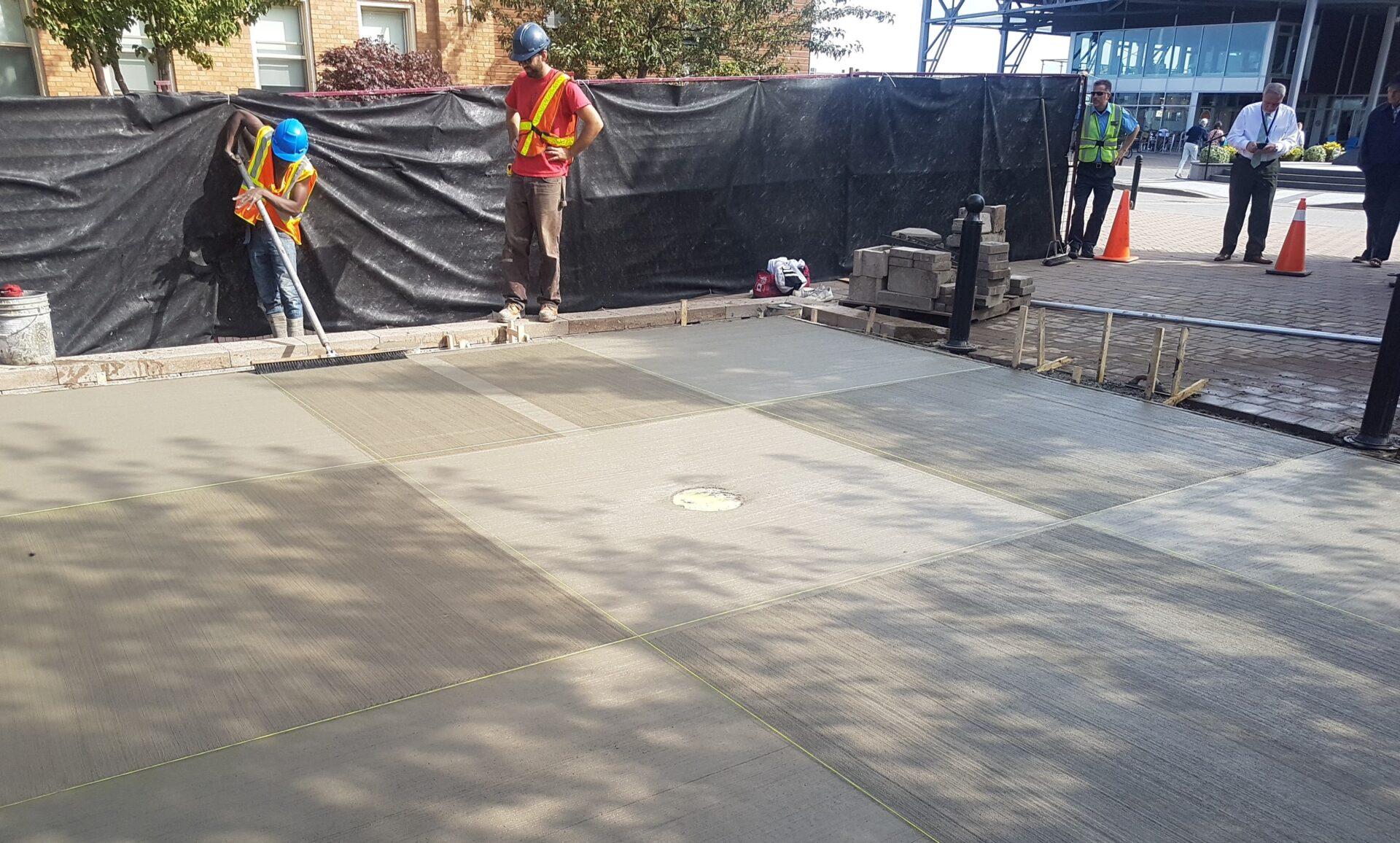 9-Block Quilt Concrete Pattern