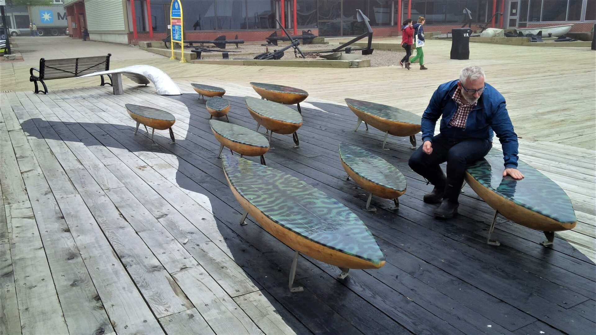 Makerel Benches on Whale